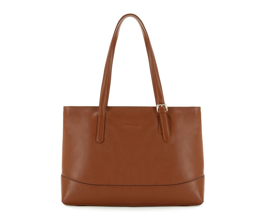 Женская сумкаЖенская сумка из коллекции Elegance&#13;<br>Основной отдел застегивается на молнию.Внутри карман на молнии, открытый карман для мелких предметов и отделение для мобильного телефона.<br><br>секс: женщина<br>Цвет: коричневый<br>материал:: Натуральная кожа<br>высота (см):: 29<br>ширина (см):: 38 - 40<br>глубина (см):: 12.5<br>иное :: поместит формат А4<br>общая высота (см):: 55<br>длина ручки/ек (см):: 59