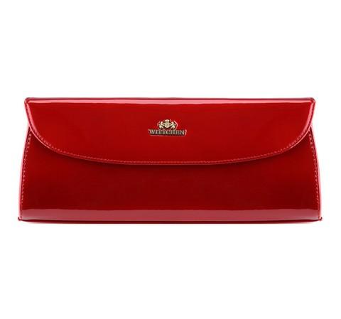 Kopertówka skórzana lakierowana, czerwony, 25-4-514-3, Zdjęcie 1