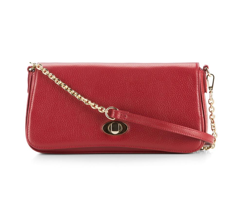 Женская сумкаЖенская сумка из коллекции Elegance&#13;<br> Основной отдел застегивается на молнию. Внутри карман на молнии и открытый  карман для мелких предметов. Сумка закрывается клапаном на металлическую застежку. Дополнительтно два съемных ремня, один из которых можно регулировать по длине.<br><br>секс: женщина<br>материал:: Натуральная кожа<br>длина плечевого ремня (cм):: 90 / 115 - 129<br>высота (см):: 14<br>ширина (см):: 24 - 26<br>глубина (см):: 6