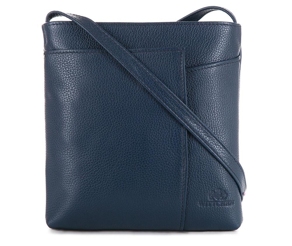 Женская сумкаЖенская сумка из коллекции Elegance&#13;<br>Основной отдел застегивается на молнию.Внутри карман на молнии и открытый карман для мелких предметов. Спереди на лицевой стороне меньший открытый карман и карман , который закрывается на магнитную застежку.С тыльной стороны карман на молнии. Есть возможность регулировать длину ремня.<br><br>секс: женщина<br>материал:: Натуральная кожа<br>длина плечевого ремня (cм):: 117 - 127<br>высота (см):: 20.5<br>ширина (см):: 20<br>глубина (см):: 3
