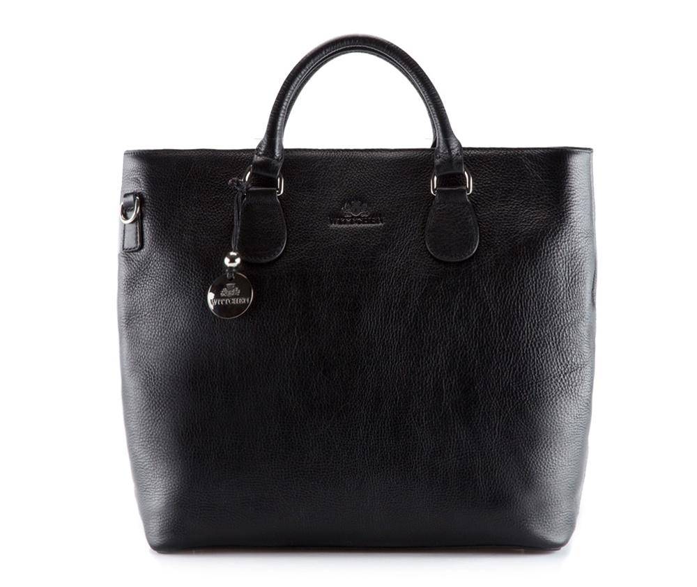 Женская сумкаЖенская сумка из коллекцииVenus&#13;<br>Основное  отделение на молнии, разделено на 2 части отделением на молнии.  Внутри  два отделения на молнии и два отделения для мелких предметов. Дно сумки  защищено  металлическими ножками. Дополнительно прилагается съемный  плечевой ремень с регулируемой длиной.<br><br>секс: женщина<br>Цвет: черный<br>материал:: натуральная кожа<br>длина плечевого ремня (cм):: 103 - 115<br>высота (см):: 32<br>ширина (см):: 34 - 40<br>глубина (см):: 15.5