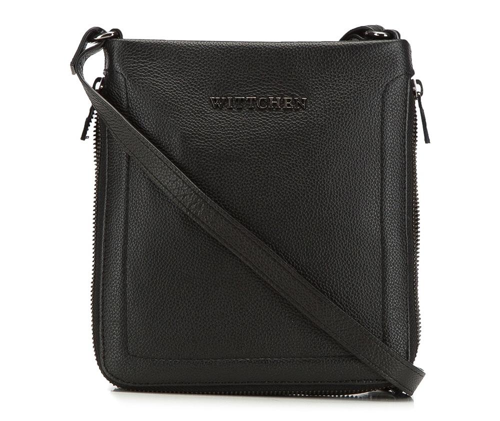 Женская сумкаЖенская сумка из коллекции Elegance 2016&#13;<br>Основное  отделение на молнии. Внутри сумки отделение на молнии и отделение для мобильного  телефона. На тыльной стороне отделение с застежкой-молнией. Регулируемый ремень.<br><br>секс: женщина<br>Цвет: черный<br>материал:: натуральная кожа<br>длина плечевого ремня (cм):: 109 - 132<br>высота (см):: 20<br>ширина (см):: 18<br>глубина (см):: 2.5 - 4