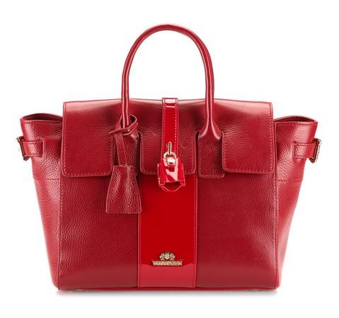 Torebka damska, czerwony, 80-4-368-9, Zdjęcie 1