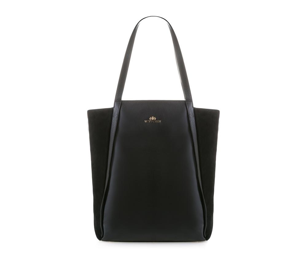 Женская сумкаЖенская сумка из коллекции Elegance.&#13;<br>Основной отдел застегивается на молнию. Внутри 2 кармана на молнии, открытый карман для мелких предметов и отделение для мобильного телефона. С тыльной стороны карман молнии. Дно сумки защищено металлическими ножками.<br><br>секс: женщина<br>Цвет: черный<br>вмещает формат А4: поместит формат А4<br>материал:: Натуральная кожа<br>высота (см):: 42<br>ширина (см):: 29<br>глубина (см):: 12<br>общая высота (см):: 67<br>длина ручки/ек (см):: 62