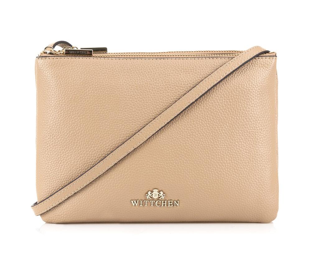 Женская сумкаЖенская сумка из коллекции Elegance.&#13;<br>3 отделения застегиваются на молнию. Внутри одной из них карман на молнии. Возможность ругулирования длины ремня.<br><br>секс: женщина<br>Цвет: бежевый<br>материал:: Натуральная кожа<br>длина плечевого ремня (cм):: 107 - 118<br>высота (см):: 17<br>ширина (см):: 24<br>глубина (см):: 4