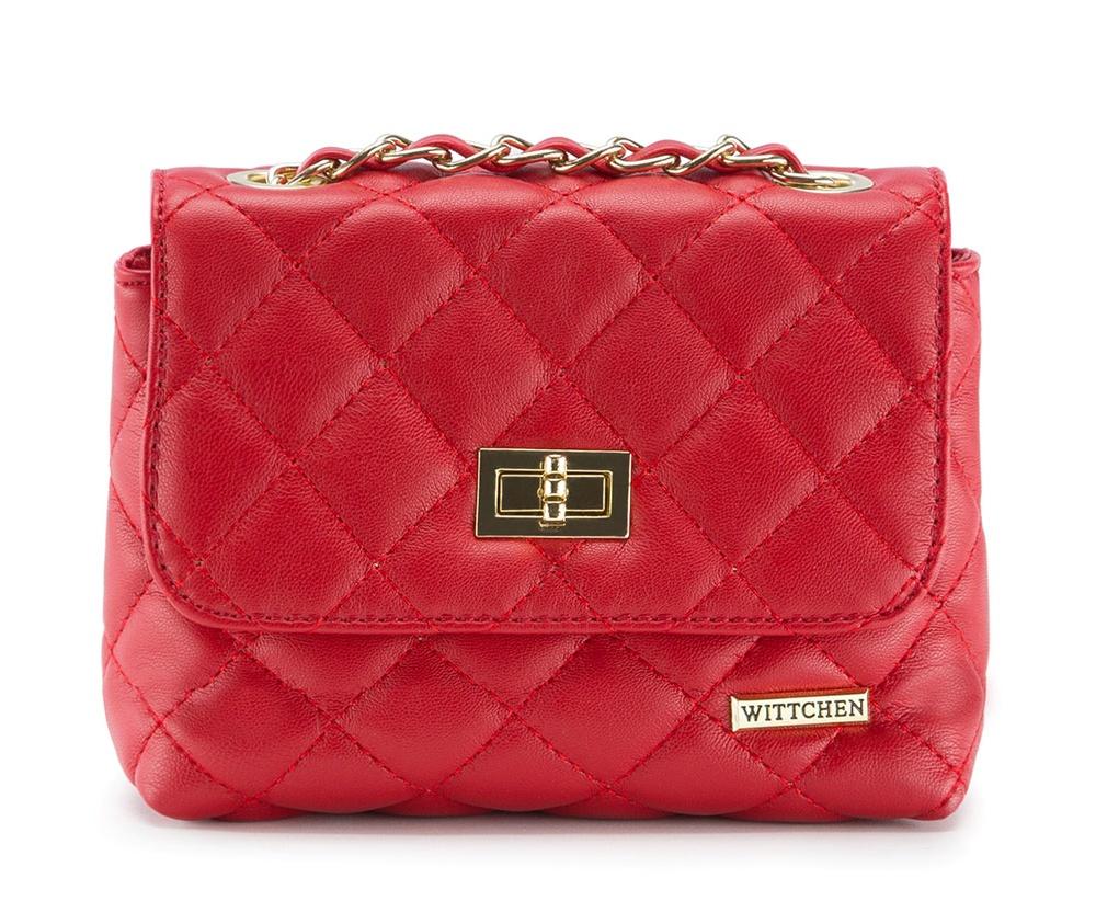 Женская сумка из экокожиОсновное отделение закрывается на металлическую застежку. Внутри карман с застежкой-молнией и открытый карман для мелких предметов. Сумка имеет ремешок в виде цепочки с вплетенной кожанной лентой.<br><br>секс: женщина<br>Цвет: красный<br>материал:: Экокожа<br>описание материала :: матовый<br>тип:: через плечо<br>высота (см):: 10<br>ширина (см):: 18<br>глубина (см):: 7<br>вмещает формат А4: нет<br>вес (кг):: 0.3