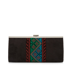 Clutch bag, black, 83-4Y-801-1, Photo 1