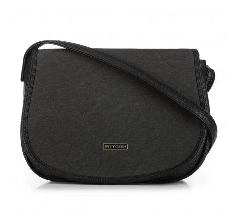 Torebka listonoszka typu saddle bag, czarny, 91-4Y-713-7, Zdjęcie 1