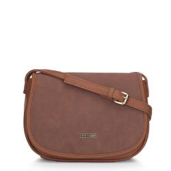 Torebka listonoszka typu saddle bag, koniak, 91-4Y-713-5, Zdjęcie 1