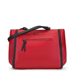 Torebka shopperka z bocznymi paskami, czerwony, 91-4Y-202-3, Zdjęcie 1