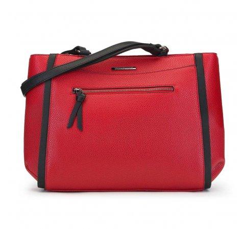 torebka damska typu shopperka, czerwony, 91-4Y-202-3, Zdjęcie 1