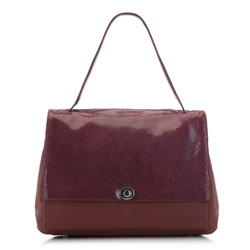 Flap bag, burgundy, 91-4E-306-2, Photo 1