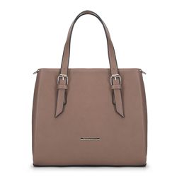 Women's handbag, light brown, 91-4Y-701-9, Photo 1