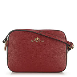 Leather cross body bag, brick red, 29-4E-005-3, Photo 1