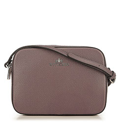 Leather cross body bag, muted pink, 29-4E-005-P, Photo 1