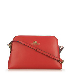 Leather cross body bag, red, 29-4E-006-30, Photo 1