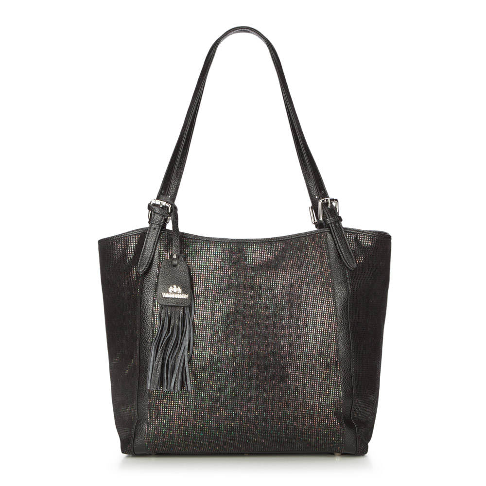 4b21b542802e3 Czarna torebka damska shopper ze skóry licowej | WITTCHEN | 86-4E-374