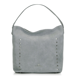 Women's hobo bag, grey, 91-4E-613-8, Photo 1