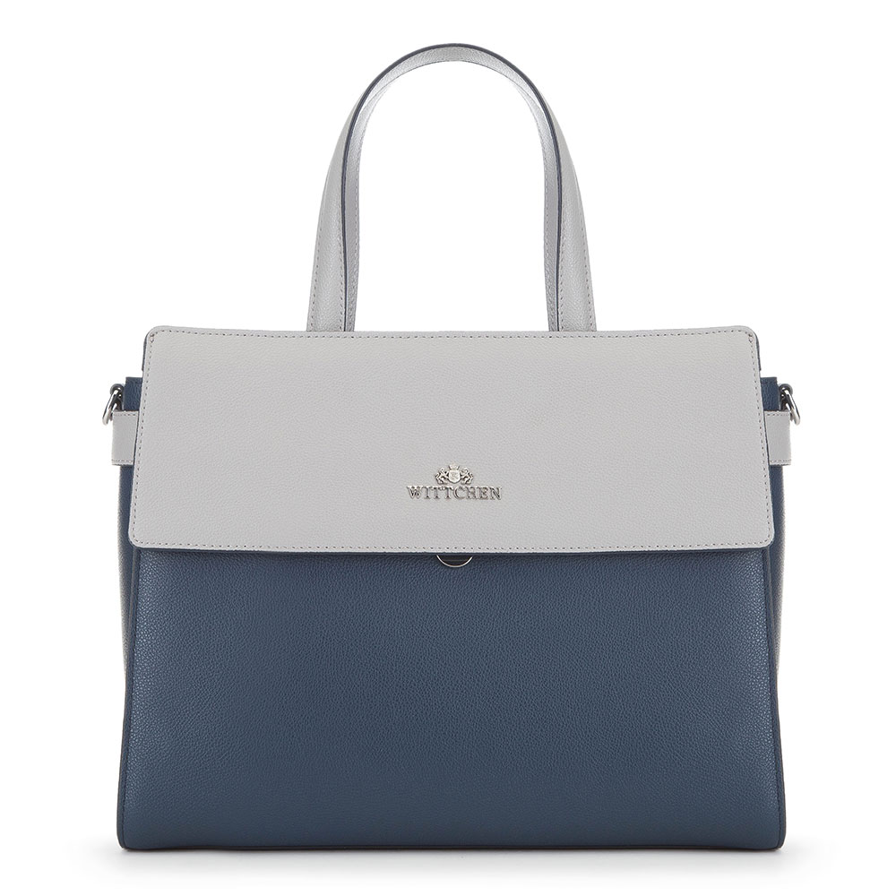 Tote bag, navy blue-grey, 91-4E-614-7, Photo 1