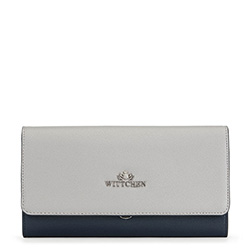 Clutch bag, navy blue-grey, 91-4E-616-7, Photo 1