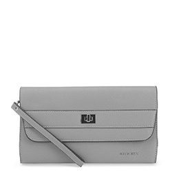 Women's evening handbag, grey, 91-4E-623-8, Photo 1