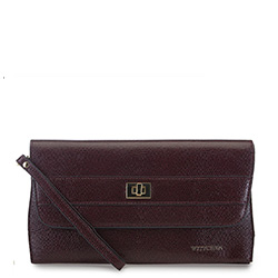 Women's clutch bag, burgundy, 91-4E-625-2, Photo 1