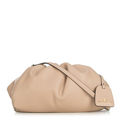 Small leather handbag, beige, 91-4E-627-9, Photo 1
