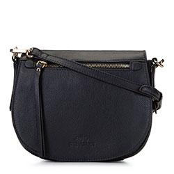 Damska listonoszka saddle bag z miękkiej skóry, czarny, 92-4E-200-1, Zdjęcie 1