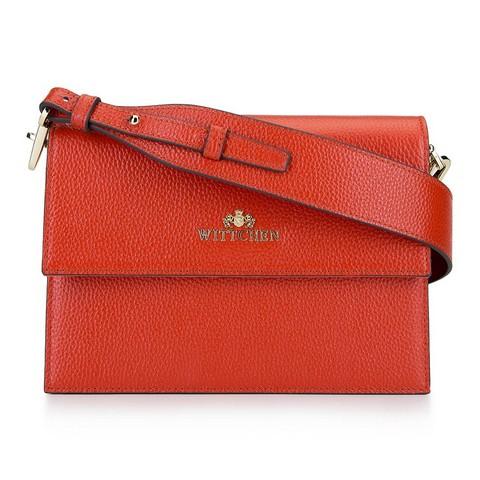 Женская кожаная сумка через плечо на широком поясе 92-4E-621-6