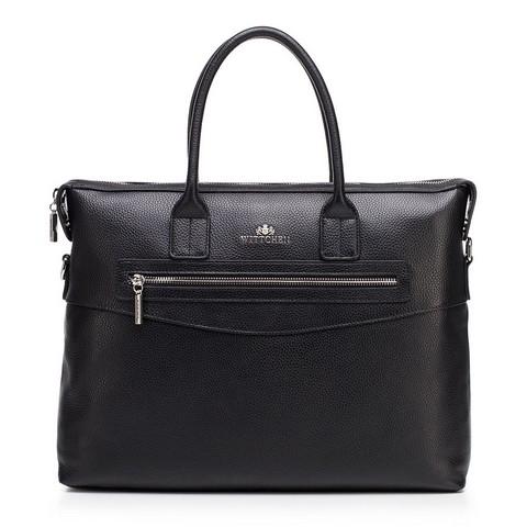 Damska torba na laptopa skórzana  klasyczna, czarny, 92-4E-639-8, Zdjęcie 1