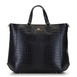 Damska torba z etui na netbooka, czarno - brązowy, 92-4E-645-1C, Zdjęcie 1