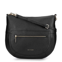Torebka saddle bag na cienkim pasku, czarny, 93-4E-609-1, Zdjęcie 1