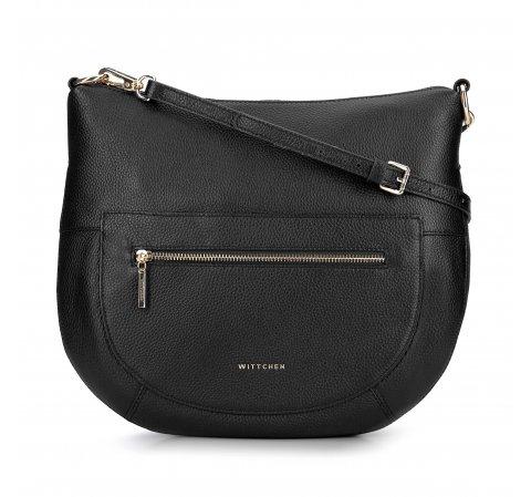 Torebka saddle bag na cienkim pasku, czarny, 93-4E-609-8, Zdjęcie 1
