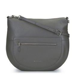 Torebka saddle bag na cienkim pasku, szary, 93-4E-609-8, Zdjęcie 1