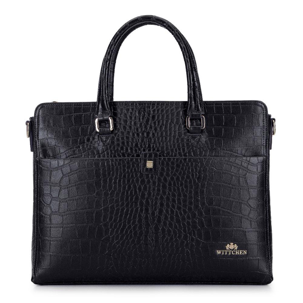 """Kožená dámska kabelka s priestorom na 13"""" laptop"""