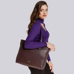 Women's shopper bag, brown, 91-4-704-4, Photo 1