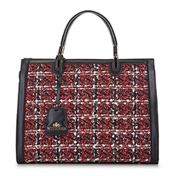 Tote bag, black-red, 93-4E-314-X1, Photo 1