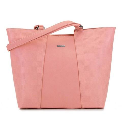 Velká kabelka v pastelové růžové barvě
