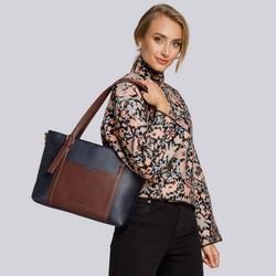 Bag, navy blue-brown, 93-4Y-204-N5, Photo 1