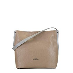 Leather hobo bag, beige, 92-4E-311-9, Photo 1