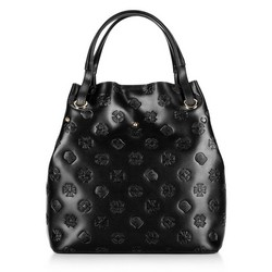 Leather monogram hobo bag, black, 92-4E-695-1, Photo 1