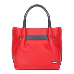 Shopper bag, red-navy blue, 86-4Y-660-3, Photo 1