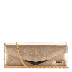 Clutch bag, gold, 89-4Y-304-G, Photo 1