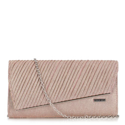 Clutch bag, gold-pink, 89-4Y-305-P, Photo 1