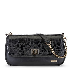 Flap bag, black, 91-4Y-301-1, Photo 1
