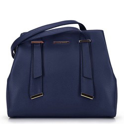 Women's tote bag, navy blue, 91-4Y-405-7, Photo 1