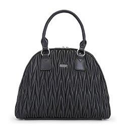 torebka damska typu kuferek, czarny, 91-4Y-600-1, Zdjęcie 1