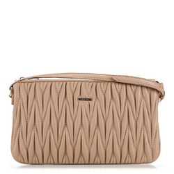Clutch bag, beige, 91-4Y-601-9, Photo 1