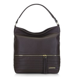 Women's hobo bag, brown, 91-4Y-703-4, Photo 1
