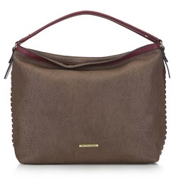 Women's hobo bag, brown - burgundy, 91-4Y-711-8, Photo 1